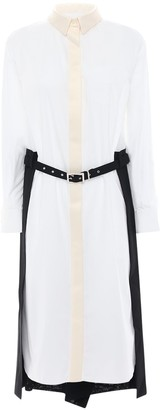 Sacai Shirt Dress W/ Pleated Skirt