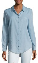 AG Jeans Nola Button-Down Denim Shirt, Blue