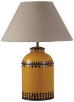 OKA Berber Handpainted Table Lamp, Large - Yellow