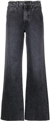 SLVRLAKE Raw-Hem Wide-Leg Jeans