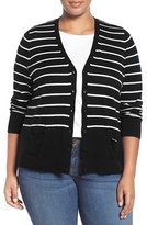 Sejour Plus Size Women's V-Neck Pocket Cardigan
