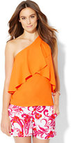 New York & Co. 7th Avenue Design Studio - Flounced One-Shoulder Top