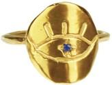 Yvonne Henderson Jewellery Evil Eye Ring With Blue Sapphire