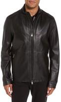 BOSS Men's Collar Inset Leather Jacket
