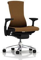 Herman Miller Embody Chair: Fully Adj Arms - Graphite Frame/Aluminum Base - Standard Carpet Casters
