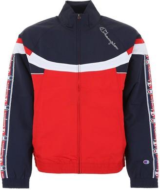 Champion Colour Block Logo Tape Track Jacket