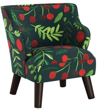Skyline Furniture Kids Modern Chair in Holly Evergreen