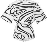 Emilio Pucci Short Sleeve Swirl Bodysuit