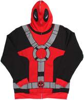 Marvel Universe Deadpool Costume Men's Full Zip Mask Hoodie