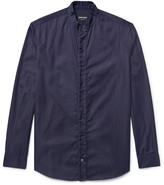 Giorgio Armani - Slim-fit Grandad-collar Indigo-dyed Denim Shirt