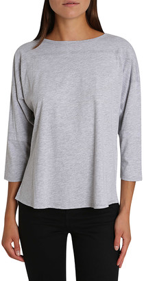 Blis Women's Tee Shirts Grey - Heather Gray Three-Quarter Sleeve Dolman Top - Women & Plus