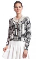 Tracy Reese Cardigan With Necklace