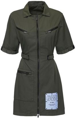 McQ Genesis Ii Zip Cotton Twill Shirt Dress
