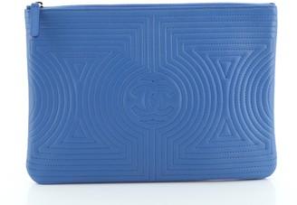 Chanel Korean Garden O Case Clutch Quilted Lambskin Medium