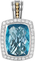 Lagos Prism Blue Topaz & Diamond Enhancer Pendant