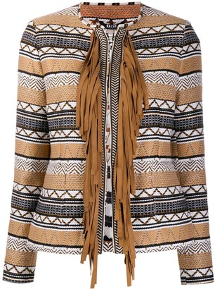 Bazar Deluxe Fringed Woven Jacket
