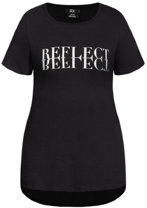 City Chic Reflect Tee - black