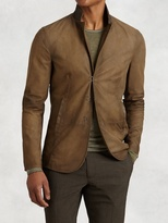 John Varvatos Hook & Bar Suede Jacket