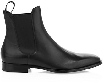 Dunhill Elegant City Leather Chelsea Boots