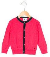 Petit Bateau Girls' Wool-Blend Rib Knit Cardigan
