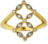 Jude Frances Lisse 18K Gold Diamond Ring, Size 6.5