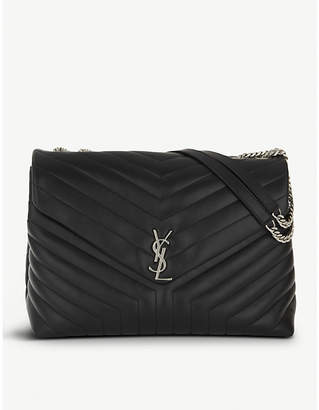 Saint Laurent Black Monogram Extra-Large Quilted Leather Shoulder Bag