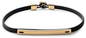 Miansai Nexus ID 14K Yellow Goldplated Sterling Silver & Leather Bracelet