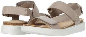 Ecco Corksphere Strap Sandal (White Cow Leather) Women's Sandals
