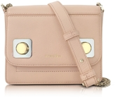 Carven Mercer Petit Nude Leather Shoulder Bag