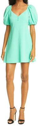 Alice + Olivia Dana Puff Sleeve Mini Dress