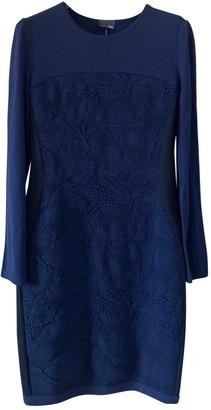 Fendi Blue Wool Dresses