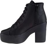Jeffrey Campbell Asif Platform Sneaker Black Fabric