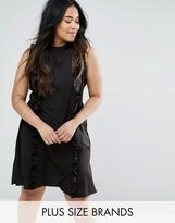 AX Paris Plus Ruffle Panel Dress