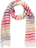 Sonia Rykiel Striped Frayed Scarf