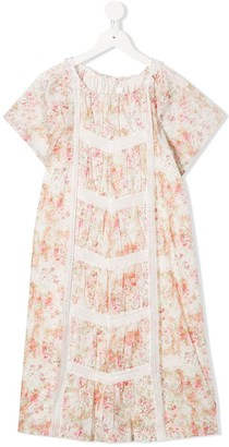 Bonpoint TEEN Nelly lace-insert empire dress