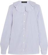 Vanessa Seward Candy Striped Cotton-poplin Blouse - White