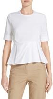Veronica Beard Women's Cotton Peplum Top