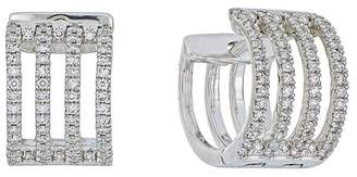 Carriere 4-Row Diamond Huggie Earrings - 0.41 ctw