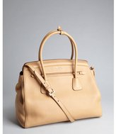 Prada sand pebbled leather convertible tote