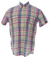 Gant Men's Handloom Madras Button-Down Short Sleeve Shirt