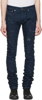 Diesel Black Gold Blue Splatter 2614 Jeans