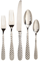 Mackenzie Childs Check Stainless Steel Place Setting Flatware Set (5 PC)