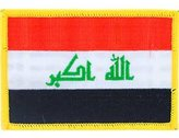 """FindingKing Iraq Flag Patch 2 1/2"""" x 3 1/2"""""""