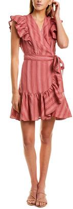 Rebecca Taylor Yarn Dyed Linen Wrap Dress