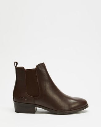 ROC Boots Australia - Women's Brown Chelsea Boots - Vespa Leather Ankle Boots - Size 36 at The Iconic
