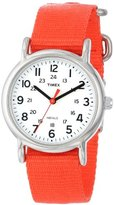 Timex Weekender | Red Strap White Dial 24-Hour Time | Casual Watch T2N870