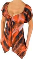 Vc1 Funfash Copper Caramel Empire Waist New Plus Size Top Shirt Blouse 1x Xl
