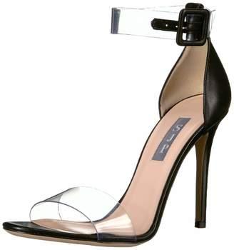 Sarah Jessica Parker Women's Lively Clear Strap Sandal Black Nappa 35 M EU (4.5 US)