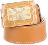 Prada Crocodile Bucklet Belt