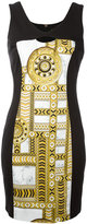Versace signature print dress - women - Cotton/Polyester/Spandex/Elastane/Acetate - 42